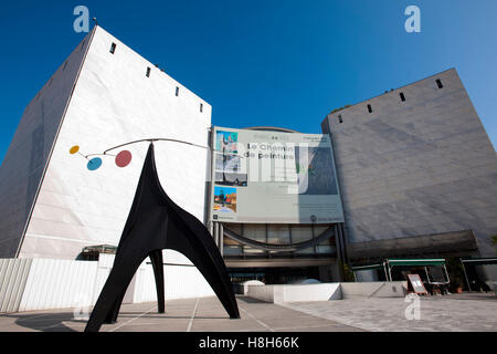 Frankreich, Cote d Azur, Nizza, Musee d¥Art Moderne et d´Art Contemporain, Museum für Moderne Kunst an der Promenade - Stock Photo