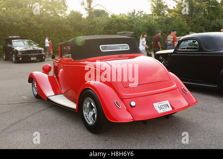 red classic hotrod stock photo royalty free image 78011034 alamy. Black Bedroom Furniture Sets. Home Design Ideas