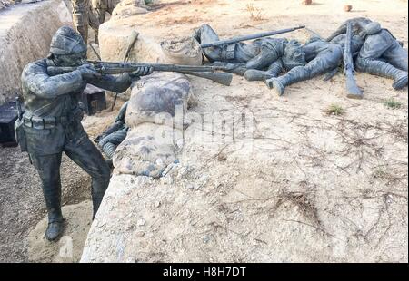 Memorial sculptures of the Gallipoli Campaign was a campaign of World War I that took place on the Gallipoli peninsula - Stock Photo