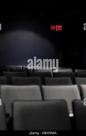 Empty seats in a movie theatre