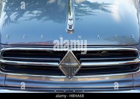 Front of Borgward Isabella cabriolet, 1960 model, vintage car, Classic Days Dyck 2016 Jüchen, Niederrhein - Stock Photo