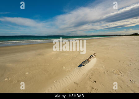 An empty beach on the NSW south coast - Stock Photo