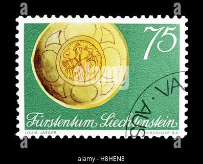 Liechtenstein stamp 1971 - Stock Photo
