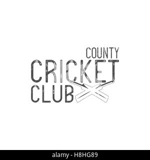 Cricket county club emblem and design elements. logo .  badge. Sports with gear, equipment. Use for web or tee  - Stock Photo