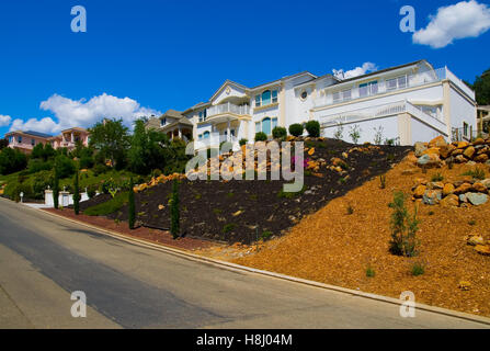 Row of houses on the hill - Stock Photo
