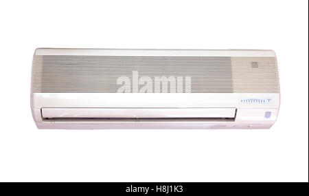 Air Conditioning - Powered On. Green LED light is on. - Stock Photo