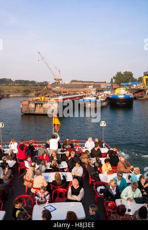 Germany,  Ruhr area, Duisburg, harbor tour. - Stock Photo