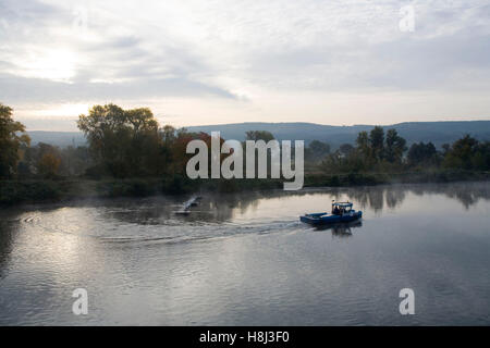 Germany,  Ruhr area, the river Ruhr in Wetter. - Stock Photo