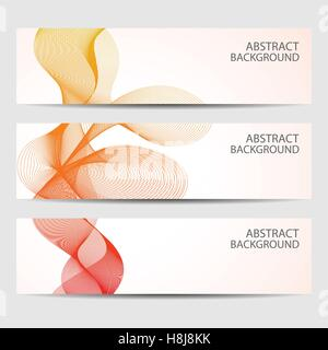 Banner with colorful curved element, bright ribbon Stock Vector Art