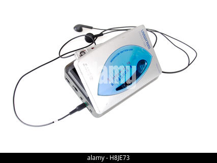 Sony walkman cassette player on white - Stock Photo