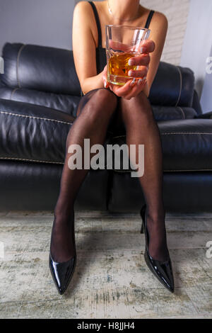 women with alcohol close up - Stock Photo