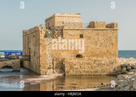 Port fort in Paphos, Cyprus. - Stock Photo