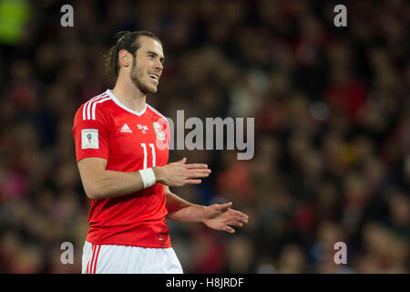 Wales footballer Gareth Bale in action. - Stock Photo