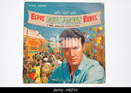Elvis Presley Roustabout vinyl record - Stock Photo