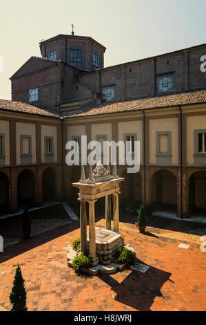 Italy Emilia Romagna Cesena Santa Maria del Monte Abbey - The great Cloister - Stock Photo