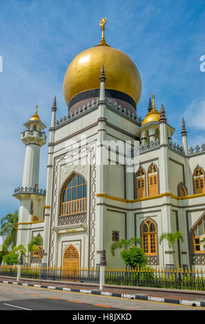 Masjid Sultan / Sultan Mosque at Muscat Street in Kampong Glam, Singapore - Stock Photo