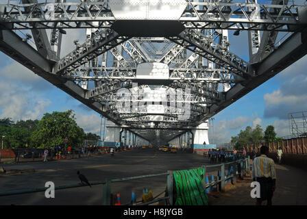 howrah bridge,kolkata,west bengal india - Stock Photo