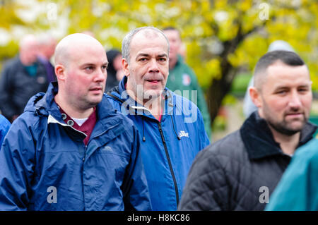 Belfast, Northern, Ireland. 13th Nov, 2016. Dissident Republicans Dee Fennell (Ardoyne) and Colin Duffy (Lurgan) - Stock Photo