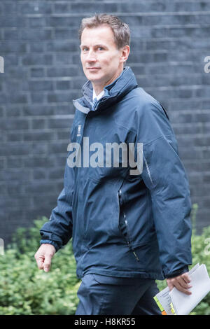 London, UK. 15th Nov, 2016. Downing Street, London, November 15th 2016. Health Secretary Jeremy Hunt arrives in - Stock Photo