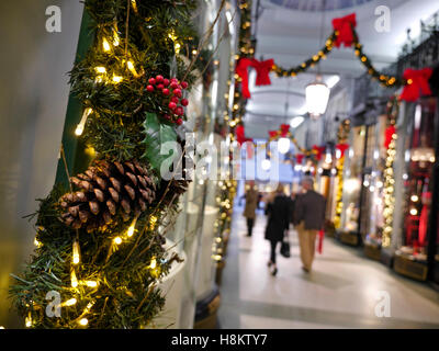 Christmas holly wreaths for sale in the uk stock photo for Elegant christmas decorations for sale