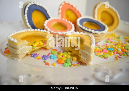 Easter themed gourmet cookies - Stock Photo