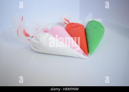 Decorators Icing in bags - Stock Photo