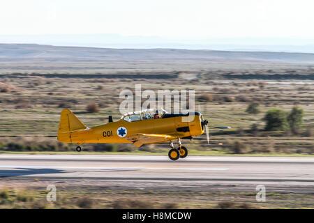 Israeli Air force North American Aviation T-6 Texan single-engine advanced trainer aircraft - Stock Photo