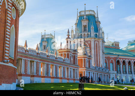 Grand palace in Tsaritsyno Park on October 13, 2013 in Moscow. Russia - Stock Photo