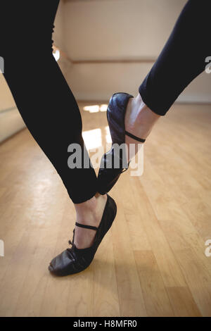 Ballet dancers feet performing ballet dance - Stock Photo
