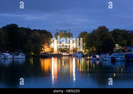 Germany,  Ruhr area, Waltrop, ship lifting system Henrichenburg at the Dortmund-Ems-Canal. - Stock Photo
