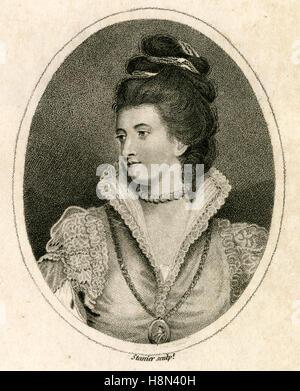 Antique 1791 engraving, Jane Gordon, Duchess of Gordon. Jane Gordon (1749-1812), née Lady Jane Maxwell, was a Scottish - Stock Photo
