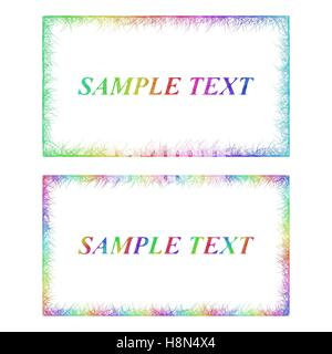 Business card border templates in rainbow colors stock vector art business card border templates in rainbow colors stock photo cheaphphosting Images