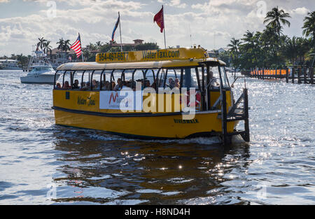 Fort Lauderdale Water Taxi - Stock Photo