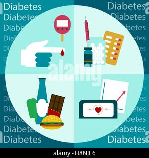 Diabetes Vector illustration - Stock Photo