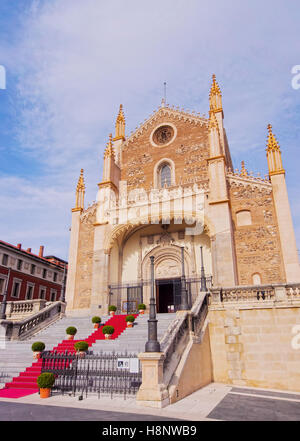 Spain, Madrid, View of the San Jeronimo el Real Church. - Stock Photo