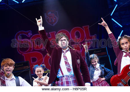 School of Rock. A musical based on the 2003 movie featuring music from the movie and new music written by Andrew - Stock Photo