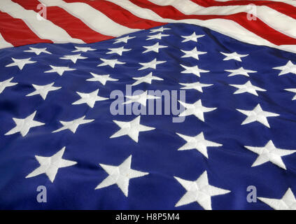 Close-up of of U.S. Flag. - Stock Photo