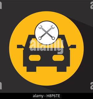 concept repair car tools icons vector illustration eps 10 - Stock Photo