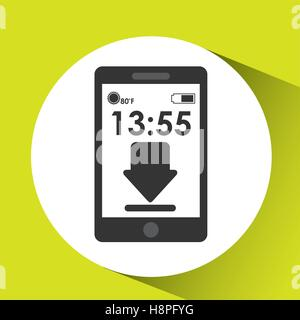 cellphone internet download network media icon vector illustration eps 10 - Stock Photo