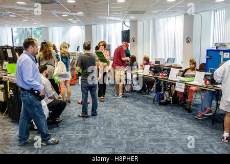 Miami Florida Beach polling place station presidential elections early voting - Stock Photo