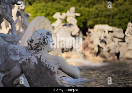 Fountain of Ceres. Royal palace of Caserta (Park) - Stock Photo