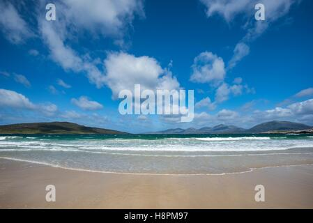 Sandy Luskentyre Beach, Isle of Harris, Outer Hebrides, Scotland, United Kingdom - Stock Photo