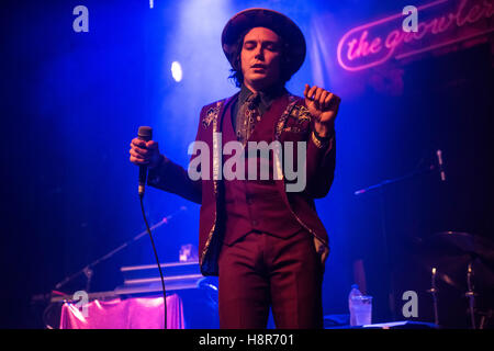 London, UK. 15th Nov, 2016. The Growlers perform onstage at Electric Brixton on November 15, 2016 in London, England. - Stock Photo