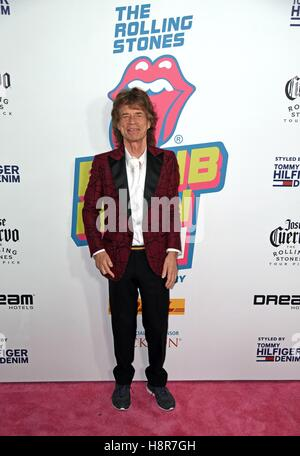 New York, USA. 15th Nov, 2016. Mick Jagger at arrivals for Exhibitionism - The Rolling Stones Opening Night, Industria, - Stock Photo