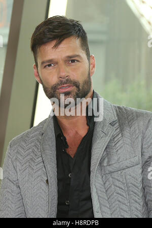 Las Vegas, NV, USA. 16th Nov, 2016. 16 November 2016 - Las Vegas, NV - Ricky Martin. Ricky Martin is named the Resident - Stock Photo