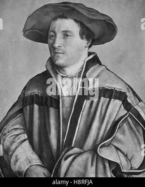 Hans Holbein the Younger was a German and Swiss artist and printmaker who worked in a Northern Renaissance style - Stock Photo