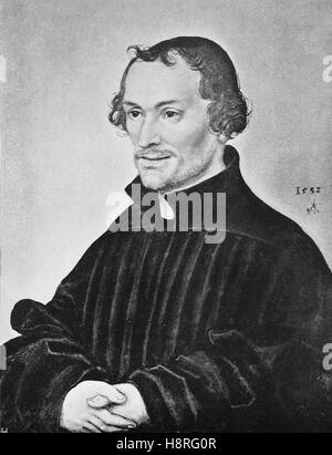 Philip Melanchthon, born Philipp Schwartzerdt was a German Lutheran reformer - Stock Photo