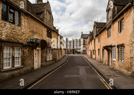 Street in the market town of Corsham England, UK, which was also used for the filming location of the BBC drama - Stock Photo