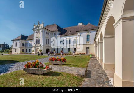 Forgach Manor, 1760, and Ferenc Kubinyi Museum, in Szecseny, Hungary - Stock Photo