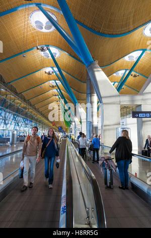 Adolfo Suárez Barajas airport in Madrid, Spain - Stock Photo